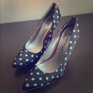 Sassy Sexy Black polka Dot with a red heel!